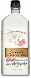 Bath & Body Works Aromatherapy Serenity Marigold Rose Magnolia Body Wash 10oz.