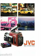 PUBLICITE ADVERTISING 116  1989  JVC  caméra   Vidéo movie  VHS