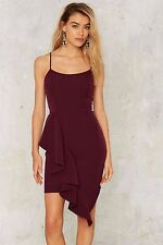 Nasty Gal Lovely Day Charice Ruffle Dress Purple Size M NG15
