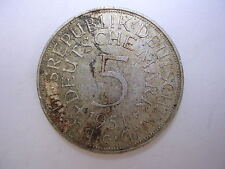 1951 G German 5 Mark Silver Coin World Germany