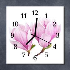 Glass Wall Clock Kitchen Clocks 30x30 cm silent Magnolia Pink