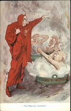 Man in Devil Costume - Radical Inferno - Poltical Comic Men in Hot Water PC