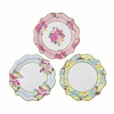 Truly Scrumptious Party Paper Plates Medium Vintage Floral Plates