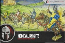Conquest Games Medieval Knights (16 mounted) 28mm plastic New!