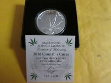 2016 Cannabis Cures 1 oz .999 fine silver shield proof