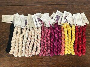The Thread Gatherer - Silken Chenille- Hand Dyed SilkThreads. 22 skeins. (1)