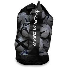 ALPHA Gear Soccer Ball Bag - Holds up to 12 Full Size Soccer Balls - Black