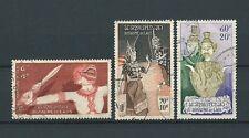 LAOS - 1955 YT 15 17 et 18 - POSTE AERIENNE - TIMBRES OBL. / USED