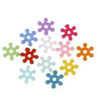 50 Perles intercalaires en acrylique Mixte 8mm Perle rondelle Neige