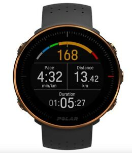 POLAR Vantage M GPS HEART RATE MONITOR WATCH black / copper LIGHTLY USED