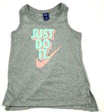 Nike Débardeur Chemise Femmes Taille Petit S Gris Rétro Athlétique Loisir Swoosh