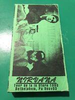 Nirvana Rare VHS Video Grunge Kurt Cobain tribute oop HTF Italy AIC Soundgarden