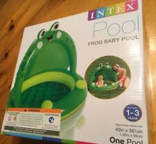 """Intex Pool Frog Baby Inflatable Baby Pool, 40"""" × 36 1/2"""" for Ages 1-3, NEW"""