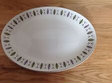 Vintage 1960s Ridgway White Mist Fanfare Extra Large Serving Plate Platter