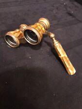VINTAGE MOP OPERA GLASSES/BINOCULARS W/TELESCOPE HANDLE (Julio Snitchler)