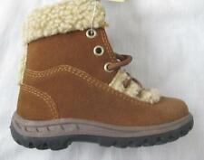 JOHN DEERE toddler boys sizes 5 suede shearling lined lace up zip boots NEW