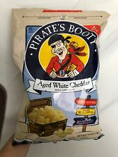 Pirate's Booty Aged White Cheddar Rice and Corn Puffs 18 Oz Resealable Free Ship