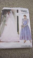 1248 VINTAGE VOGUE Misses Sz 12 Wedding Gown and Bridesmaid Dress Pattern
