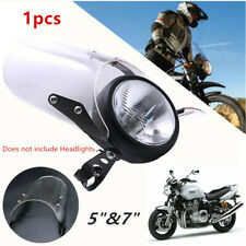 "1PCS Motorcycle Front Windshield Fit for 5""&7"" Round Headlights Windscreen Kits"