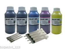 Pigment refill ink for Epson B300 B300N 308 B500 B510DN Printer 5x10oz+syringe