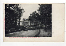 SOUTH APPROACH The Moraine HIGHLAND PARK ILLINOIS PC Postcard UDB Mansion