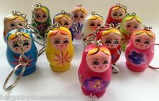 1 Russian Wooden Doll Keyring Party Bag,Wedding Favours Handbag Charm GREAT GIFT