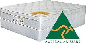 King Size Pocket Spring & Latex Gold Pilow Top mattress + 2 FREE LATEX PILLOWS**