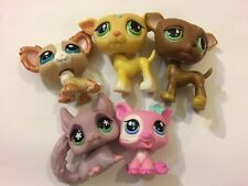 Lps #8 Littlest Pet Shop Lot 5 Pets Mixed Collection Twins Yhb-4