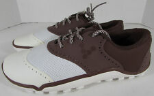 Vivobarefoot Hombre Linx Oxford Zapatos de Golf, Chocolate/Blanco, Ue 40 / Us 7