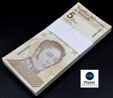 Venezuela 5 Bolivares 2021 New Unc. Pack of 100 Bolivar Soberano Rare Banknotes