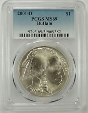 2001-D $1 AMERICAN BUFFALO SILVER COMMEMORATIVE DOLLAR PCGS MS69 #39669382
