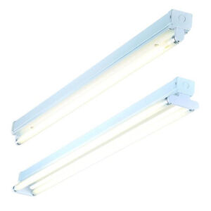 T8 Slimline Batten Fitting Fluorescent Tube Single or Twin 2ft 4ft 5ft 6ft 240v