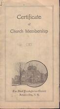 Certificate of Church Membership 1918 Presbyterian Pamphlet 021717DBE2