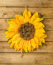 "21"" Country Rustic Sunflower Wall Hanging Wreath Burlap Home Decor"