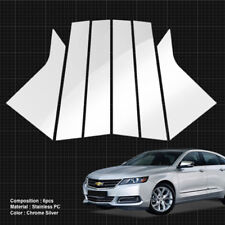 Chrome Pillar Post Flexible Stainless PC Molding Cover For CHEVY 2014-18 Impala