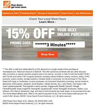 ONE 1X-Home Depot 15% OFF Online Coupon Save up to $200 MAX FAST_SENT__-__-
