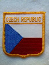 CZECH FLAG EMBLEM PATCH - IRON/SEW ON