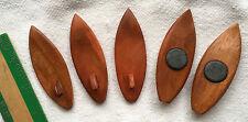 """FIVE Plain Wood 3"""" Surfboard Magnets Bulky Sell Hawaiian Hawaii Aloha Gifts New"""
