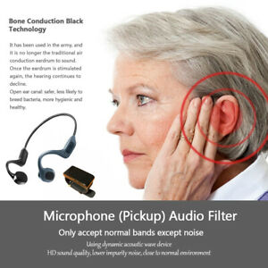 Bluetooth5.0 Bone conduction Hearing aids Headset Rechargeable BTE Ear Amplifier