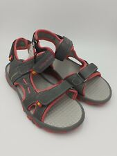 Lily and Dan Girls Trekking Sandals Grey and Pink UK 1 Adjustable Straps Cushion