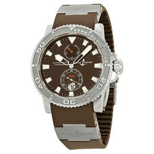Ulysse Nardin Maxi Marine Diver Brown Dial Brown Rubber Mens Watch 263-33-3-95