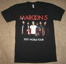 Maroon 5 T-Shirt Small 2015 World Tour T-Shirt Black Adam Levine Amercan Apparel