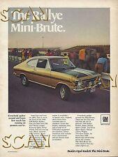 1969 Buick Opel Kadett GM Rallye Ad Magazine Advertisement Kadet Cadet