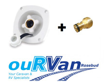 1 X SHURFLO City Mains Water White With 50psi Pressure Reg Caravan 006154