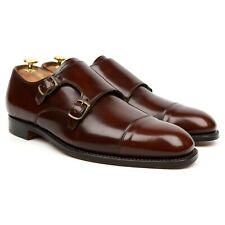 Cheaney 'Barrett' Brown Leather Double Monk Strap UK 9 F