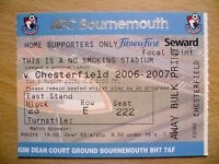 Ticket 2006/07 BOURNEMOUTH - CHESTERFIELD
