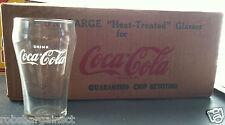 One Vintage 1950s DRINK Coca-Cola Logo Fountain Glasses HT White Star Libbey 7oz