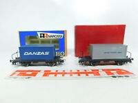 BV674-0,5# 2x Rivarossi H0/DC Containerwagen: 2110 U.S.L. + 2079 Danzas OVP