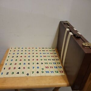 Vintage 1970's Rummy-O Tile Game Cardinal Faux Leather Carrying Case