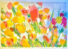 Tulips And Roses Original Hand Signed Limited Edition Lithograph Joan Paley